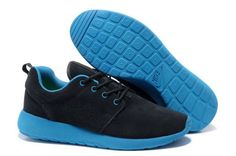 b925885e557b Nike Roshe Run Black Blue Mens Shoes Nike Shoes Online