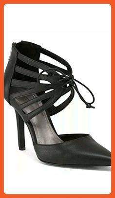 BCBGENERATION DELPHINA TIE FRONT HIGH HEEL PUMP BLACK SIZE 8 - Sandals for women (*Amazon Partner-Link)