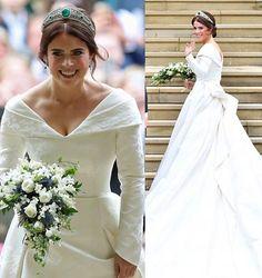 The wedding of Princess Eugenie of York and Jack Brooksbank October)❤️ . The bride: - Princess Eugenie's Wedding dress has been desig. Royal Wedding Themes, Royal Wedding Gowns, Luxury Wedding Dress, Royal Weddings, Princess Wedding, Wedding Bride, Wedding Dresses, Wedding Tips, Bridal Tips