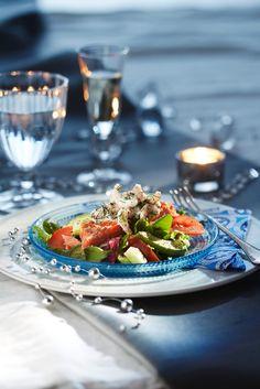 Lohisalaatti ja katkarapuaioli | Kodin juhlat | Pirkka #food #salads #recipes #reseptit