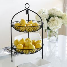 2-Tier Sunflower Basket made by Mesa Home :}