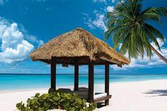 Beachfront cabana, yes please