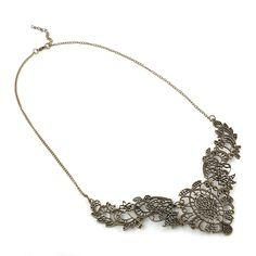 Flor de Aleación de Zinc de la vendimia Ahueca Hacia fuera el colgante de collar de Gargantilla de Joyería de moda Collar para Las Mujeres shipping