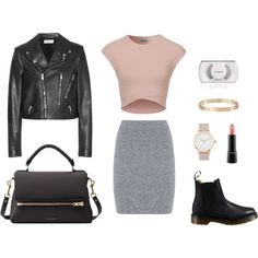Weekend chic by selenamarshalll on Polyvore featuring polyvore, fashion, style, Yves Saint Laurent, T By Alexander Wang, Dr. Martens, Deadly Ponies, Cartier, The Horse and MAC Cosmetics