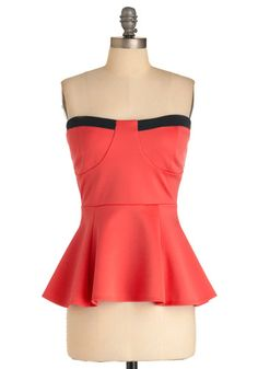 Bustier Top, #ModCloth    I see this with tight black capris, like Peggy Bundy, or a nice black pencil skirt.