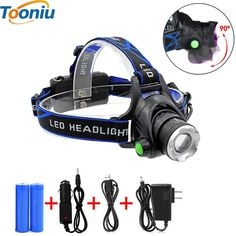 Led Headlamp Zoomable Headlight Waterproof Head Torch Flashlight //Price: $11.01 & FREE Shipping //     #hashtag1