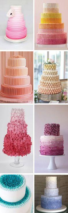 'i do' it yourself: ombré cakes Cupcakes, Cake Cookies, Cupcake Cakes, Pretty Cakes, Beautiful Cakes, Amazing Cakes, Ice Cake, Ombre Cake, Elegant Wedding Cakes