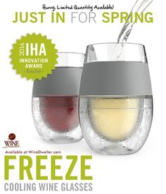 Freeze Cooling Wine Glasses @Lisa Phillips-Barton Phillips-Barton Phillips-Barton Rowberry We need these!!!