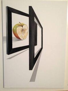 "Saatchi Art Artist Eka Peradze; Painting, ""Apple.#2. 50x70cm."" #art"