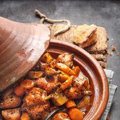 Tajine Vegan, Tagine Recipes, Vegetarian Recipes, Healthy Recipes, Yummy Recipes, Oriental Food, Everyday Food, I Love Food, Pot Roast