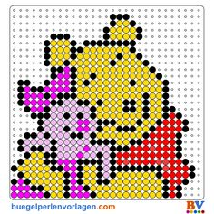 perler bead designs   Winnie Pooh Perler Bead Patterns   Bead Sprites   Pixel Art