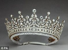 A wedding present for Princess May of Teck (the future Queen Mary) from the 'Girls of Great Britain and Ireland', bought with money raised by a committee chaired by Lady Eve Greville in 1893. It could also be worn as a necklace. It was later known by Queen Elizabeth II as 'Granny's Tiara', given to her by her grandmother, Queen Mary