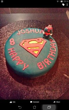 My son's superman Lego birthday cake.