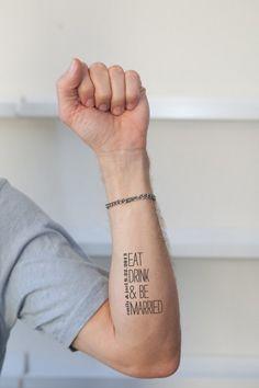 16 Awesome Wedding Tattoos With Words   Weddingomania