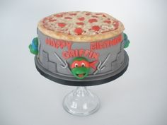 I kind of want to make this TMNT cake for Jason's birthday.