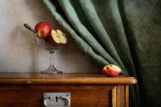 #Still #Life #Photography Piece Of Apple Art Print by Nikolay Panov