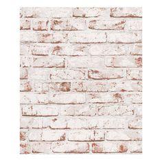 Tapete New England   Weiß, Rot   Strukturiert