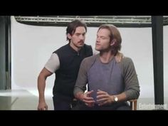 Milo Ventimiglia interrupts Jared Padalecki's interview during the Gilmore Girls cover shoot. - YouTube