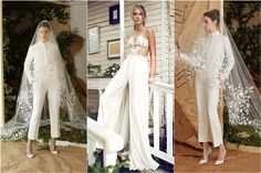 28 Gorgeous Wedding Pantsuits and Jumpsuits for Brides - Deer Pearl Flowers