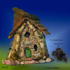 #1161B - Bramble Village Fairy House - SOLD in John Crawford originals at Fairy Woodland