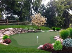 If you like golf, check out these 28 outdoor and indoor putting greens and mats. We feature custom and pre-built artificial putting greens.