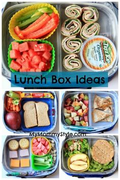 Healthy Lunch Box ideas–week 2 | My Mommy Style {They already aired Week #1... I'll have to check back to see if they do more.}
