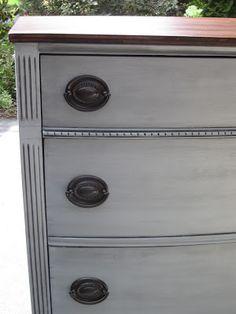 Uniquely Chic Furniture: I Love Blue/Gray Paint