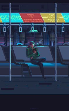 Various Cyberpunk Pixel Art Pixel Art Gif, Arte 8 Bits, Space Opera, Pixel Animation, 8bit Art, Animated Gifs, Cyberpunk City, Blade Runner, Retro Art