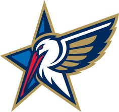 NBA All-Star Game Secondary Logo (2014) - 2014 NBA All-Star Game Secondary Logo - A pelican next to a star. Game played in New Orleans, LA. Hosted by New Orleans Pelicans
