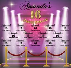 Sweet 16 Step and Repeat Sweet Sixteen, Sweet 16, Repeat, Templates, Stencils, Vorlage, Models