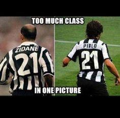 Zidane and Pirlo