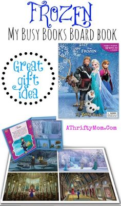 Frozen My Busy Board Book, Great Gift Idea, #Frozen, #GiftIdea, #BooksForKids