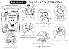 *MIS COSAS DE MAESTRA*: La Constitución Española para niños Spanish Activities, Learning Spanish, Social Science, Special Day, Homeschool, Crafts For Kids, Teacher, Education, History