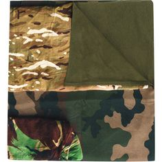 Pierre-Louis Mascia camouflage print scarf (625 CAD) via Polyvore featuring accessories, scarves, green, green scarves, pierre-louis mascia, green shawl, camo scarves and camo shawl
