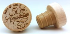 Happy Anniversary Ron & Betty! www.coolwinestoppers.com