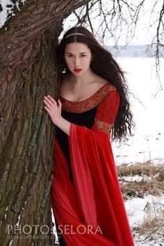 red-black-snowy 11 by ~lady-narven on deviantART She looks kind of like a pretty medieval witch--the kind of girl who would be mentioned in ancient folk songs