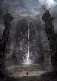 """Antica Porta di Deliriak """"la città nera"""": (vampiro) pesca finche non trovi un mostro (rimischia le altre carte non mostro senza applicare effetti). Poi ripeti nuovamente la stessa azione."""
