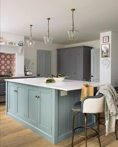"984 Likes, 9 Comments - deVOL Kitchens (@devolkitchens) on Instagram: ""The Datchworth Kitchen by deVOL, a wonderful mix of Lead and Trinity Blue cupboards and brass…"""