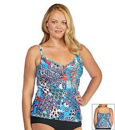 015d14cb764 ... Ocean Plus Size Party Adjustable Tankini