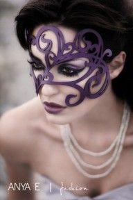 purple swirly mask
