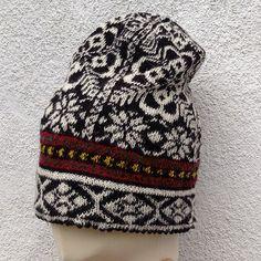 Ravelry: dom-klary's Black White handknitted Fairisle Norwegian Unisex Cap