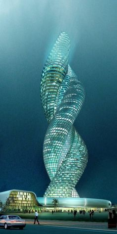 Amazing double helix style skyscraper! It would be great to see a building like this built.