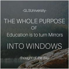 #Education #ThoughtOfTheDay #GLSUniversity