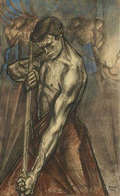 20 December 1858 - Jan Toorop, Nederlands schilder en graficus (overleden 1928) Jan Toorop - IJzergieter (1922)