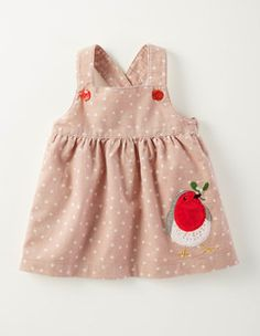 Winter Friends Cord Pinnie 73222 Dresses at Boden Teddy Bear Clothes, Baby Kids Clothes, Doll Clothes, Baby Girl Fashion, Toddler Fashion, Kids Fashion, Sewing For Kids, Baby Sewing, Reese Clothing