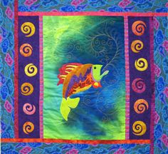 quilt patterns for men free | ve finished most of the quilting on the fish quilt, which is ...