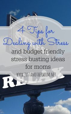 4 Tips for Dealing with Stress plus budget friendly stress busting ideas for moms High Cortisol, Health And Wellness, Health Fitness, Dealing With Stress, Healthier You, Stress Management, Budgeting, Parenting, Mom
