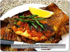 How to Cook a Pearl Spot Fish ( Karimeen Pollichattu) wrapped in Banana Leaf?   Chacko's Kitchen