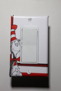dr suess cat in the hat light switch plate cover child kids room home decor bedroom