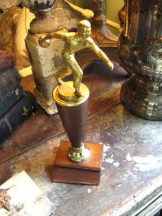 Bowling Trophy Statue by GoodCharmVintage on Etsy, $16.99